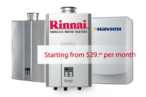 Rinnai and Navien tankless systems